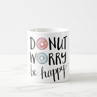 ドーナツ心配は幸せなマグです コーヒーマグカップ