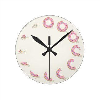ドーナツ時計 ラウンド壁時計