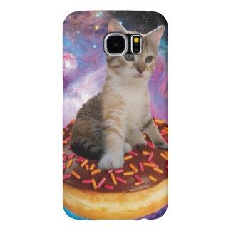 ドーナツ猫猫の宇宙子猫かわいい猫ペットネコ科 SAMSUNG GALAXY S6 ケース