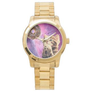 ドーナツ祈る猫 腕時計