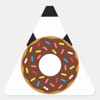 ドーナツKettlebell 三角形シール