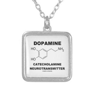 ドーパミンのカテコラミンの神経伝達物質 シルバープレートネックレス