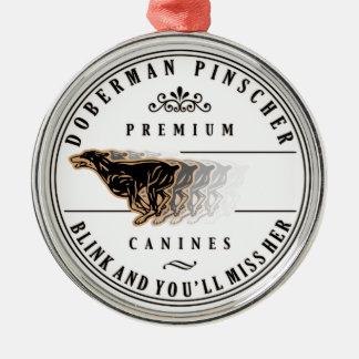 ドーベルマン犬のきらめき417 メタルオーナメント