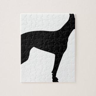ドーベルマン犬のシルエット ジグソーパズル