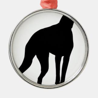 ドーベルマン犬のシルエット メタルオーナメント