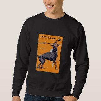 ドーベルマン犬のハロウィンのスエットシャツ スウェットシャツ