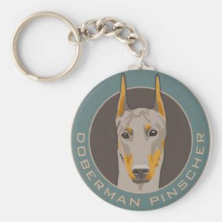 ドーベルマン犬のバッジ、子鹿 キーホルダー