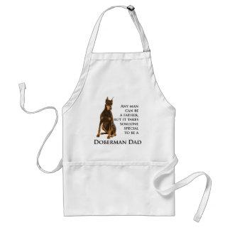 ドーベルマン犬のパパのエプロン スタンダードエプロン