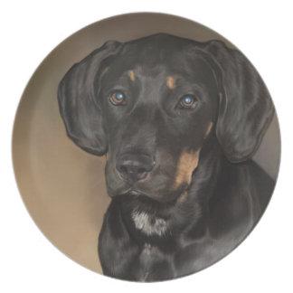 ドーベルマン犬のプレート プレート