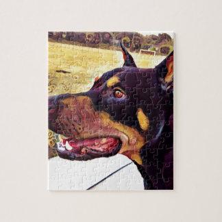 ドーベルマン犬の渦巻のペンキ2 ジグソーパズル