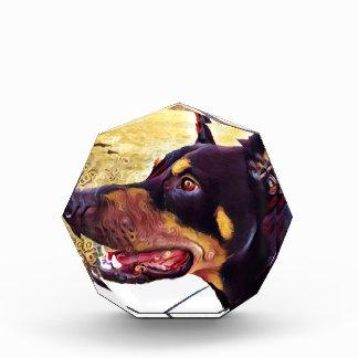 ドーベルマン犬の渦巻のペンキ2 表彰盾