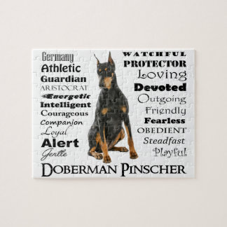 ドーベルマン犬の特性のジグソーパズル ジグソーパズル