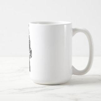 ドーベルマン犬の頭部 コーヒーマグカップ