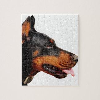 ドーベルマン犬の頭部 ジグゾーパズル