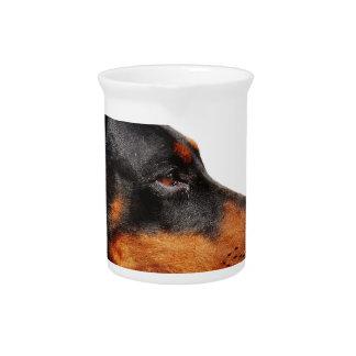 ドーベルマン犬の頭部 ピッチャー