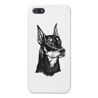 ドーベルマン犬の頭部 iPhone SE/5/5sケース