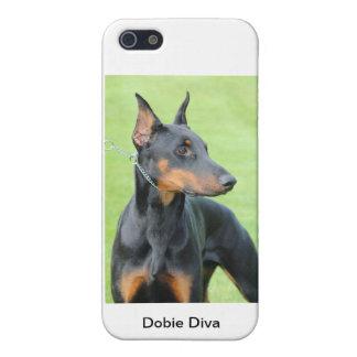 ドーベルマン犬のIphone 5のカバー写真 iPhone SE/5/5sケース