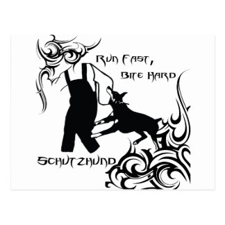ドーベルマン犬は速く走ります ポストカード