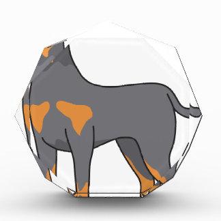 ドーベルマン犬犬のスケッチ 表彰盾