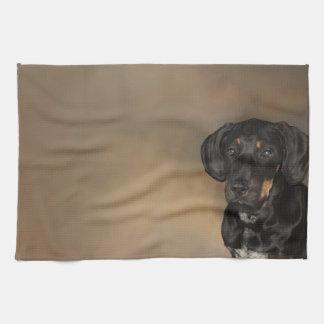 ドーベルマン犬 キッチンタオル