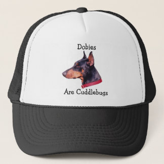 ドーベルマン(犬)はCuddlebugsのドーベルマン犬犬の帽子です キャップ