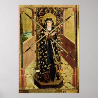 ドームの祭壇1499年からの7つの悲哀のヴァージン ポスター