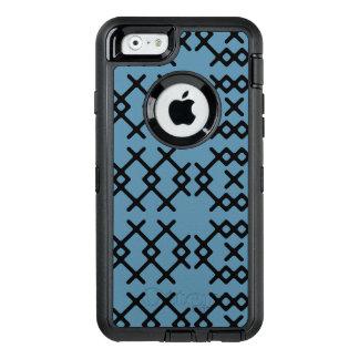 ナイアガラの種族の青い遊牧民の幾何学的な形 オッターボックスディフェンダーiPhoneケース
