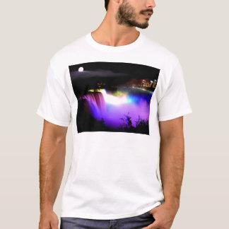 ナイアガラ滝の下フラッドライト夜 Tシャツ