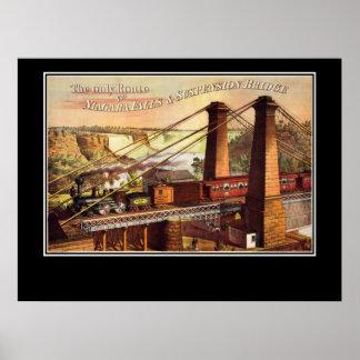 ナイアガラ・フォールズおよび吊り橋ポスター ポスター