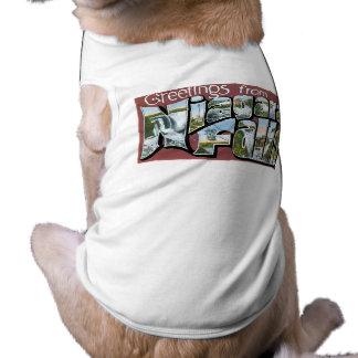 ナイアガラ・フォールズからの挨拶! 犬用袖なしタンクトップ