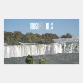 ナイアガラ・フォールズの写真 長方形シール