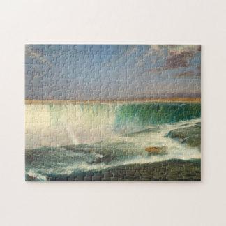 ナイアガラ・フォールズの絵画のパズル ジグソーパズル