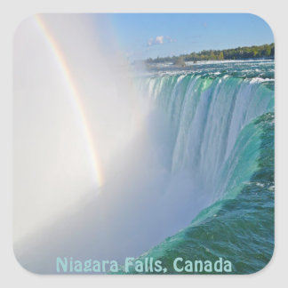 ナイアガラ・フォールズの蹄鉄の滝及び虹 スクエアシール