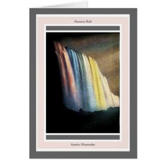 ナイアガラ・フォールズの20年代の虹の照明 カード