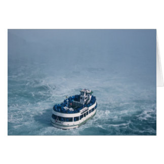ナイアガラ・フォールズ、カナダの上の霧の終わりの女中 カード