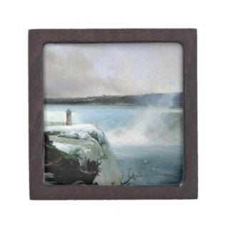 ナイアガラ・フォールズ、c.1837-40 (キャンバスの油) ギフトボックス