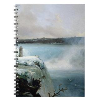 ナイアガラ・フォールズ、c.1837-40 (キャンバスの油) ノートブック