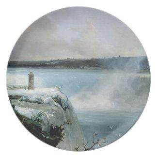 ナイアガラ・フォールズ、c.1837-40 (キャンバスの油) プレート