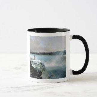 ナイアガラ・フォールズ、c.1837-40 (キャンバスの油) マグカップ