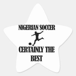 ナイジェリアのサッカーのデザイン 星シール