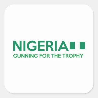 ナイジェリアのデザイン スクエアシール