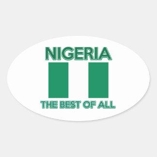 ナイジェリアのデザイン 楕円形シール