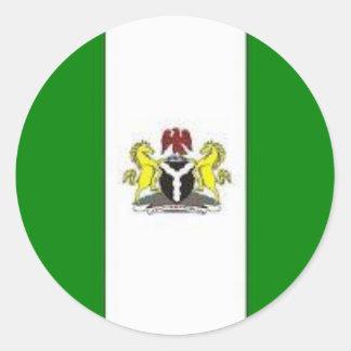 ナイジェリアの地図 ラウンドシール