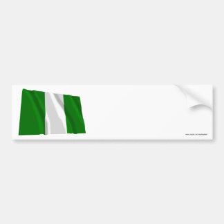 ナイジェリアの振る旗 バンパーステッカー