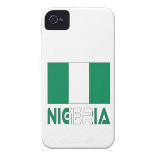 ナイジェリアの旗およびナイジェリア Case-Mate iPhone 4 ケース