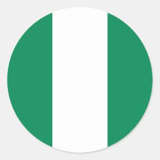 ナイジェリアの旗の円形のステッカー(パック) ラウンドシール