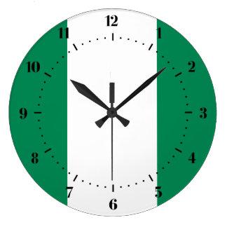 ナイジェリアの旗の時計 ラージ壁時計