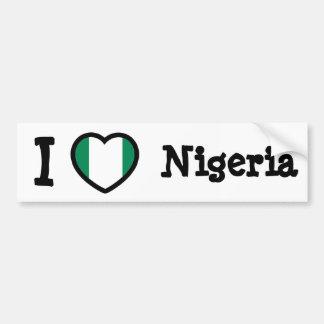 ナイジェリアの旗 バンパーステッカー