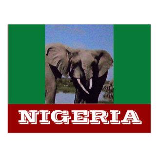 ナイジェリアの旗 ポストカード