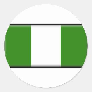 ナイジェリアの旗 ラウンドシール
